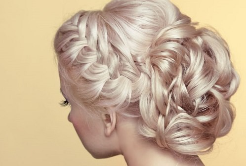 A braided chignon
