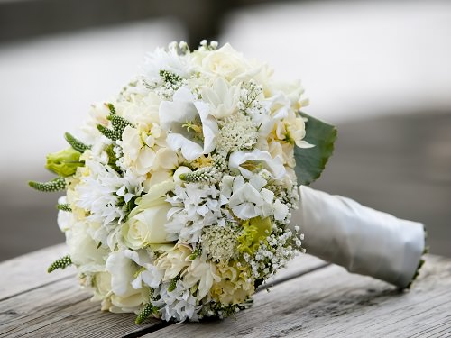 Gray Silver and White fall wedding colors