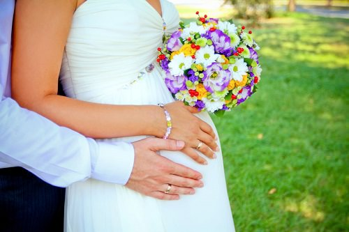 Tips for Buying a Wedding Dress When You're Pregnant