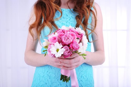 Brightly colored short wedding dresses can be spectacular