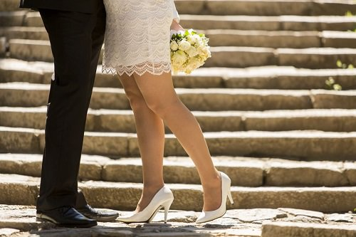 Show off your wedding shoes