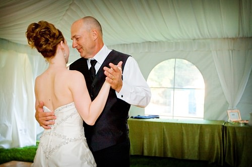 The father-daughter wedding dance