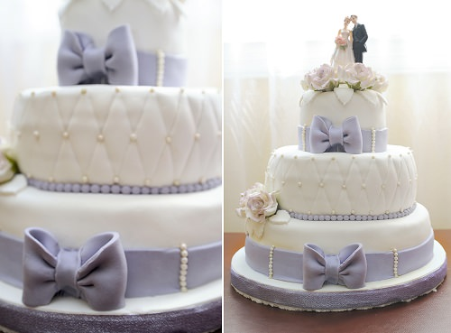 The high-fashion wedding cake